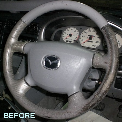 Leather steering wheel restoration recolouring kit for Leder auto interieur